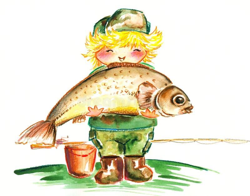 Biiig fish! royalty free stock photography