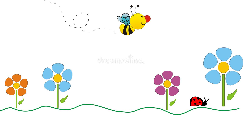 Download Bij stock illustratie. Illustratie bestaande uit trek, insect - 280754