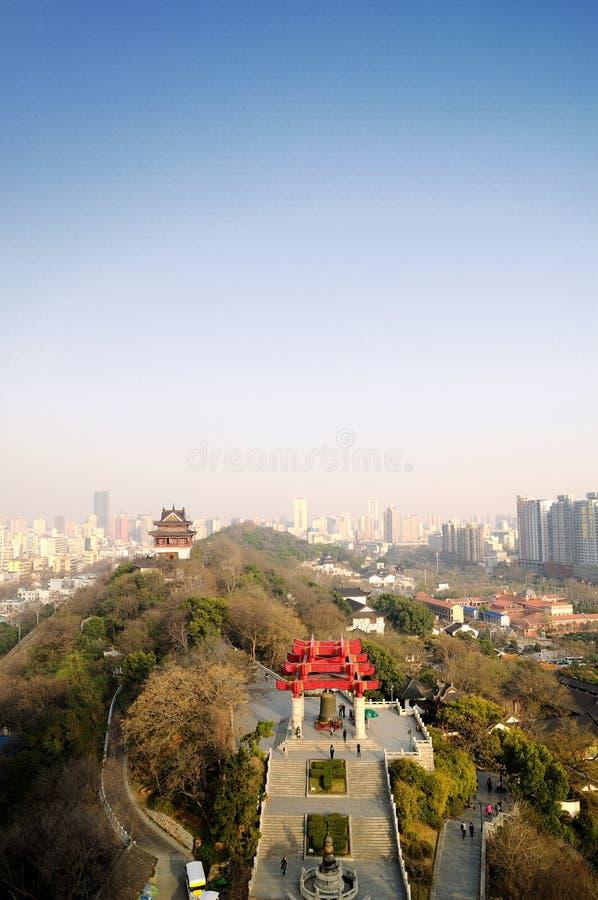 Bij de bovenkant van Huanghelou royalty-vrije stock fotografie