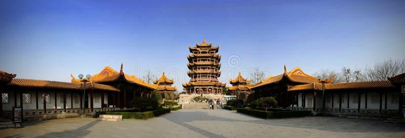 Bij de bovenkant van Huanghelou royalty-vrije stock foto's
