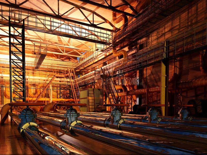 Bij de fabriek stock illustratie