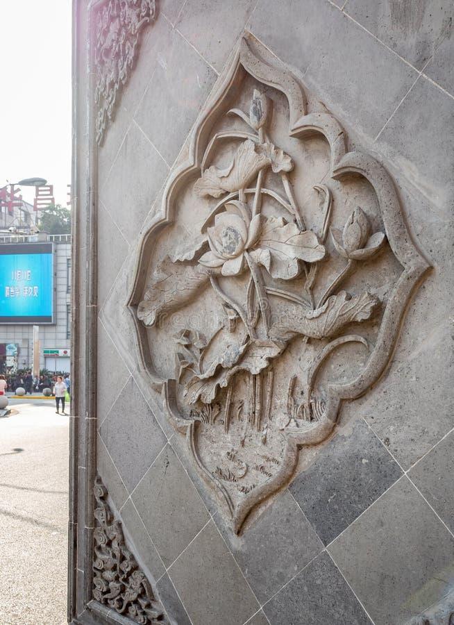 Bij de de Godstempel van de 600 ??njarigen Oude Stad, Shanghai, China royalty-vrije stock fotografie