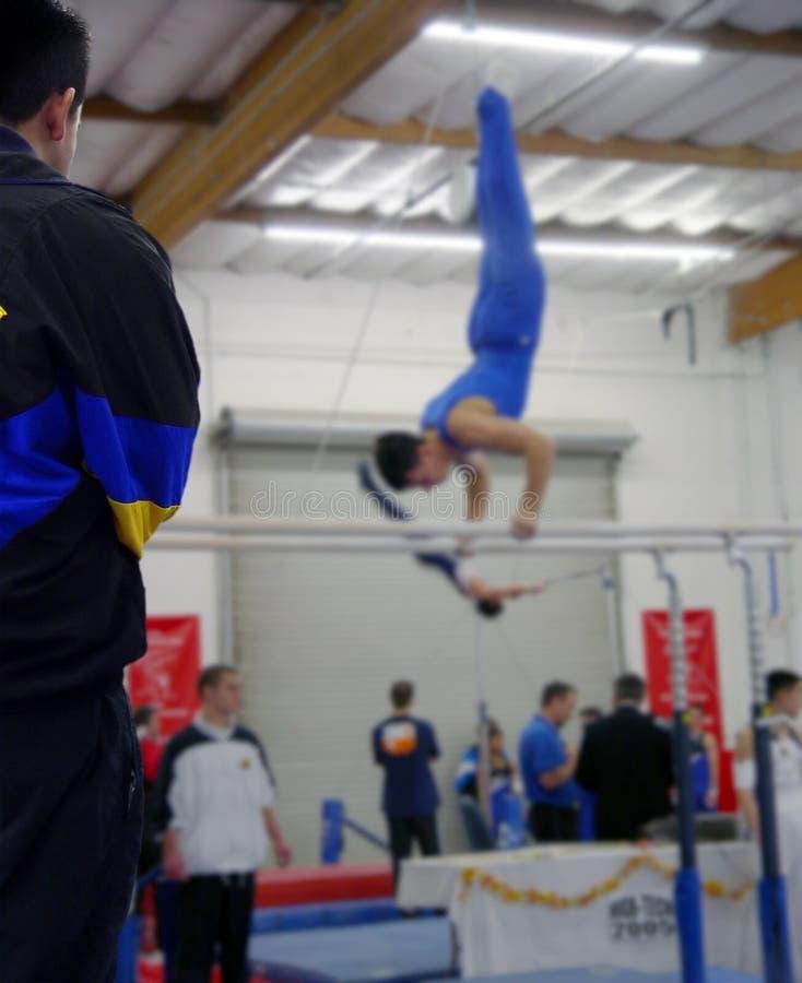 Bij De Gymnastiek Stock Afbeeldingen