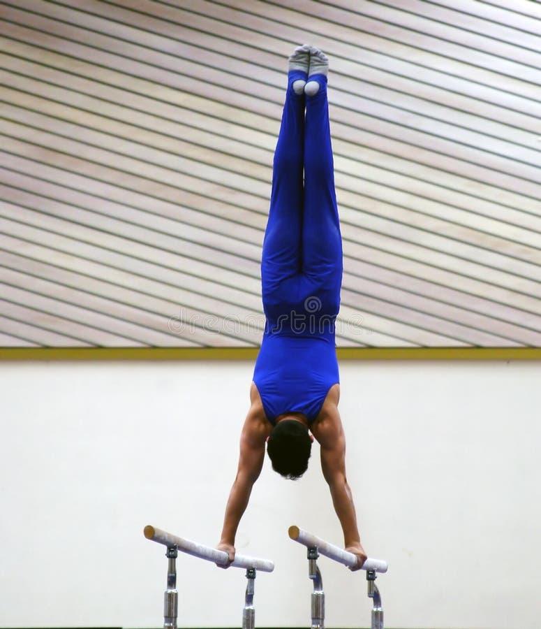 Bij de gymnastiek stock afbeelding