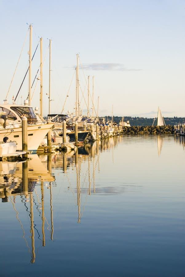 Bij de Jachthaven stock fotografie