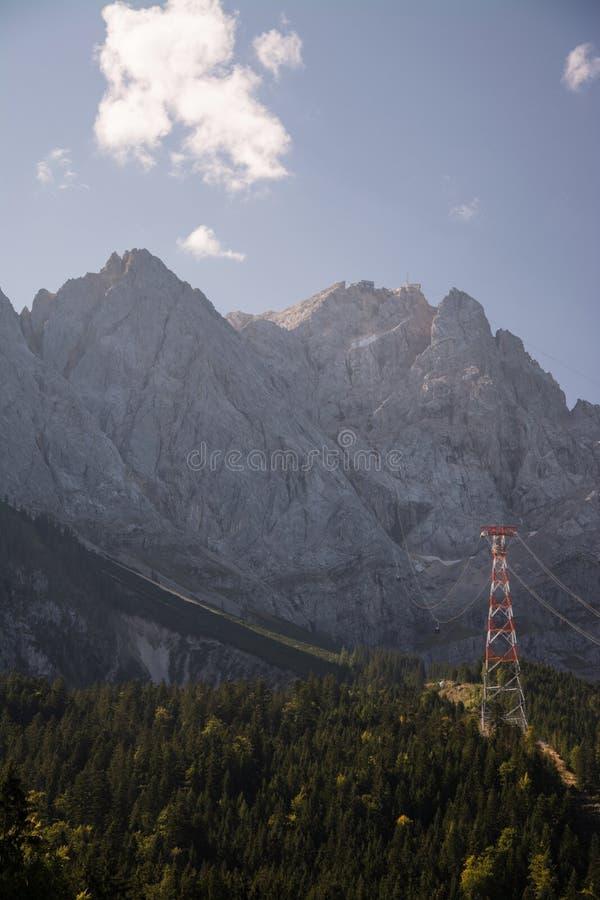 Bij de Piek van Zugspitze, Beieren, Duitsland royalty-vrije stock foto
