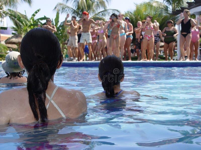 Bij de pool royalty-vrije stock foto