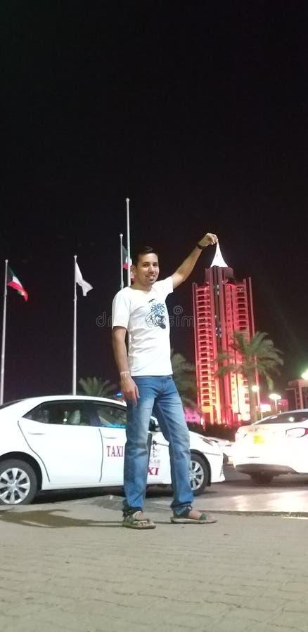 Bij de stad van Koeweit stock afbeeldingen