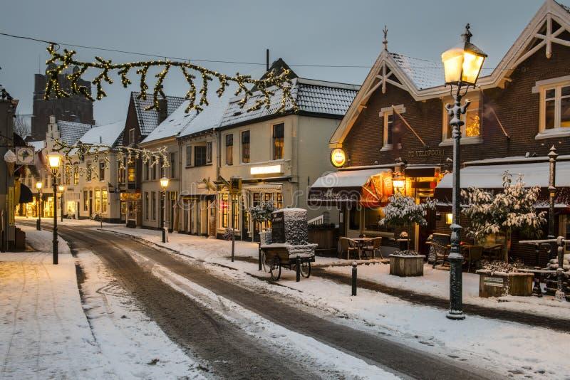 Bij Duurstede di Wijk della via di inverno fotografia stock libera da diritti