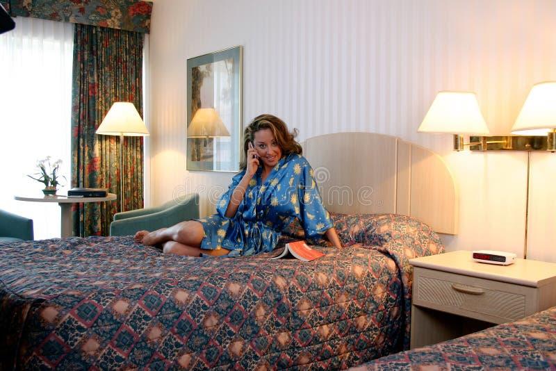 Bij het hotel stock foto's