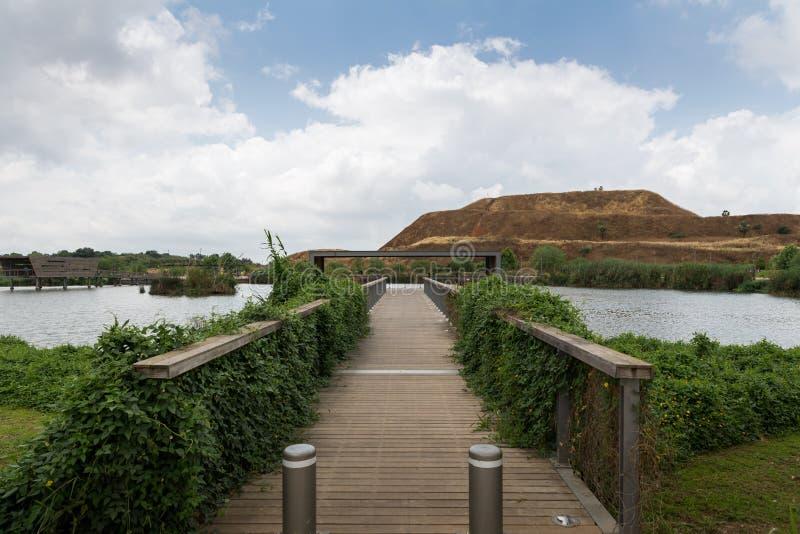 Bij het park van Hod haSharon, Sharon Area stock fotografie