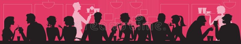 Bij koffie stock illustratie