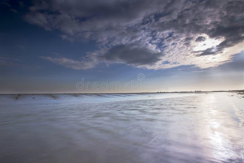 Bij Paesens/Moddergat de Wadddengebied, Tidalflats em Paesens/Modde imagens de stock royalty free