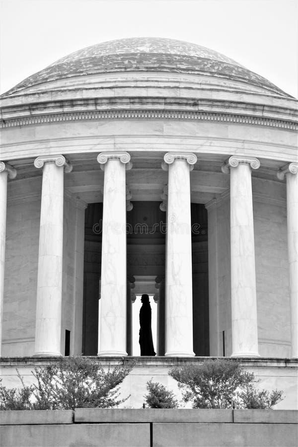 Bij rangmening van Jefferson-profiel bij Gedenkteken stock foto