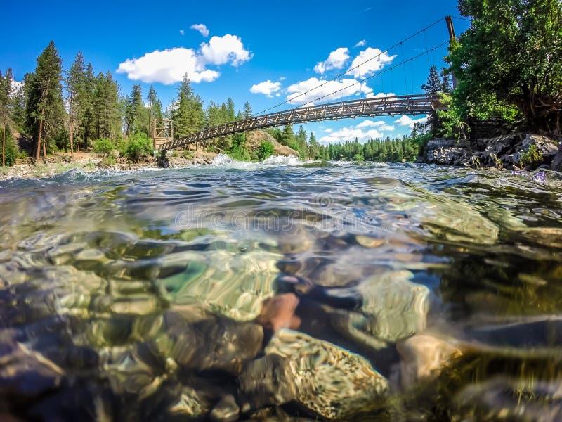 Bij rivieroeverkom en het park van de waterkruikstaat in Spokane Washington royalty-vrije stock fotografie
