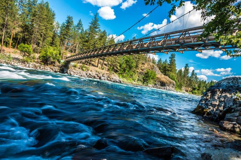 Bij rivieroeverkom en het park van de waterkruikstaat in Spokane Washington stock fotografie