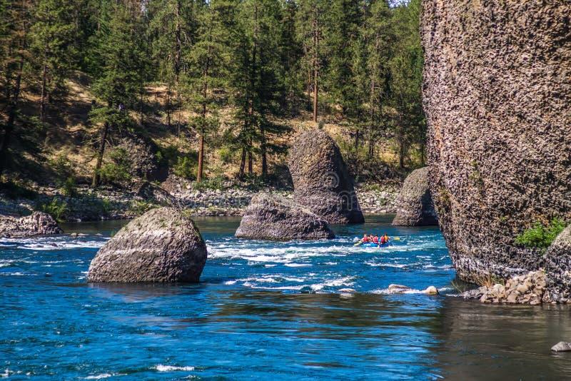 Bij rivieroeverkom en het park van de waterkruikstaat in Spokane Washington royalty-vrije stock afbeeldingen