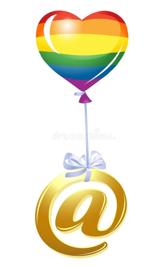 Bij-symbool met ballon vector illustratie