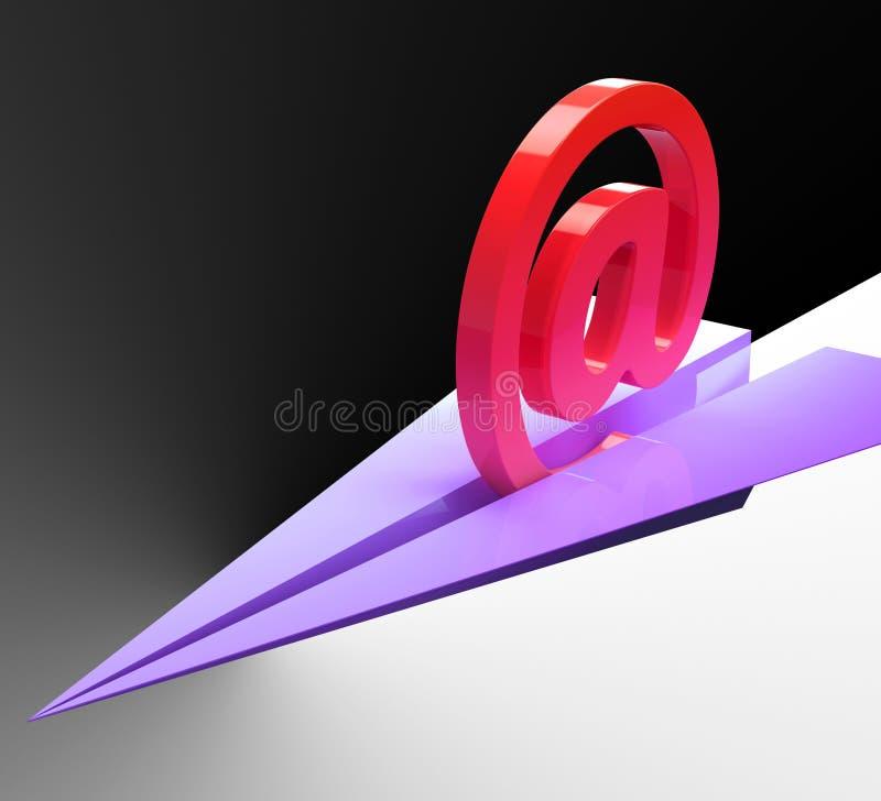 Bij Teken toont het Vliegtuig de Post van de Correspondentie verzendt stock illustratie