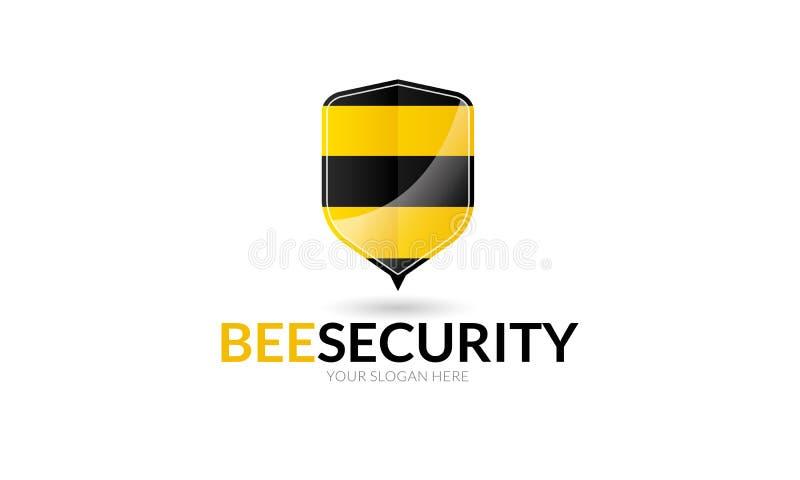 Bij Veilig Logo Template vector illustratie