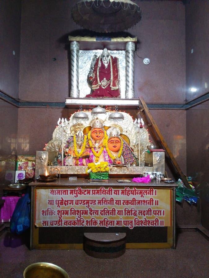 Bijasani mata hinduisk tempel, heligt ställe i berg i Indien arkivbilder