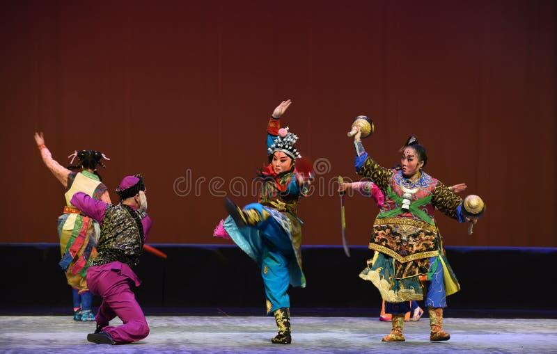 """Bijatyka--Peking opery """"Little Worriors Yeuh's family† zdjęcia stock"""