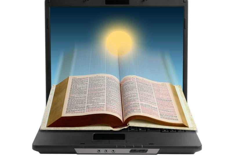 Bijbel op Internet stock foto's