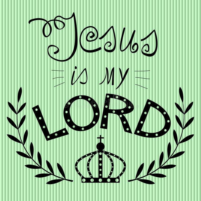 Bijbelse achtergrond die van de hand van Jesus mijn Lord wordt geschreven stock illustratie