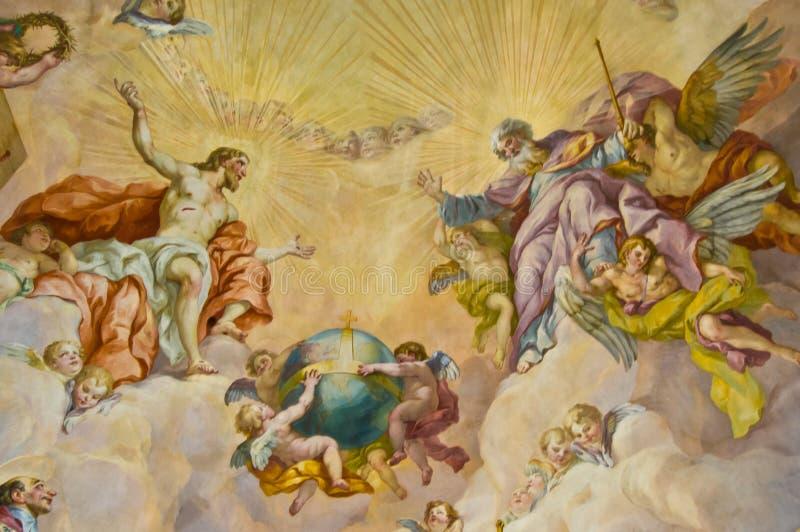 Bijbelse fresko royalty-vrije stock fotografie
