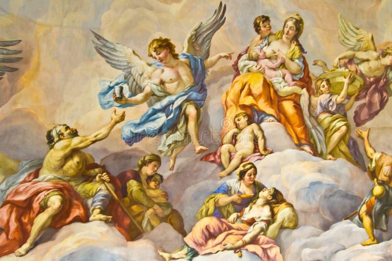 Bijbelse fresko royalty-vrije stock foto