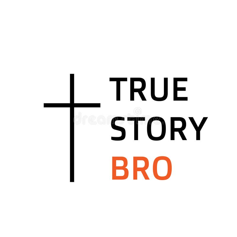 Bijbelse Uitdrukking, Christelijk geloof, motievencitaat van het leven vector illustratie