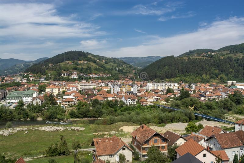 Bijelo Polje, panorama, Montenegro Crna Gora imagenes de archivo