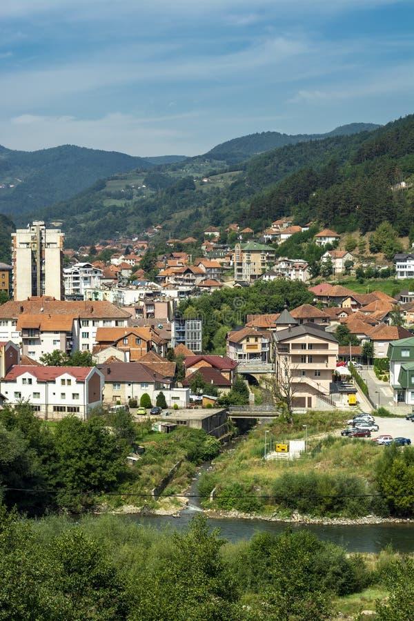 Bijelo Polje, panorama, Montenegro Crna Gora fotografía de archivo libre de regalías