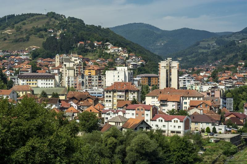 Bijelo Polje, panorama, Montenegro Crna Gora foto de stock royalty free