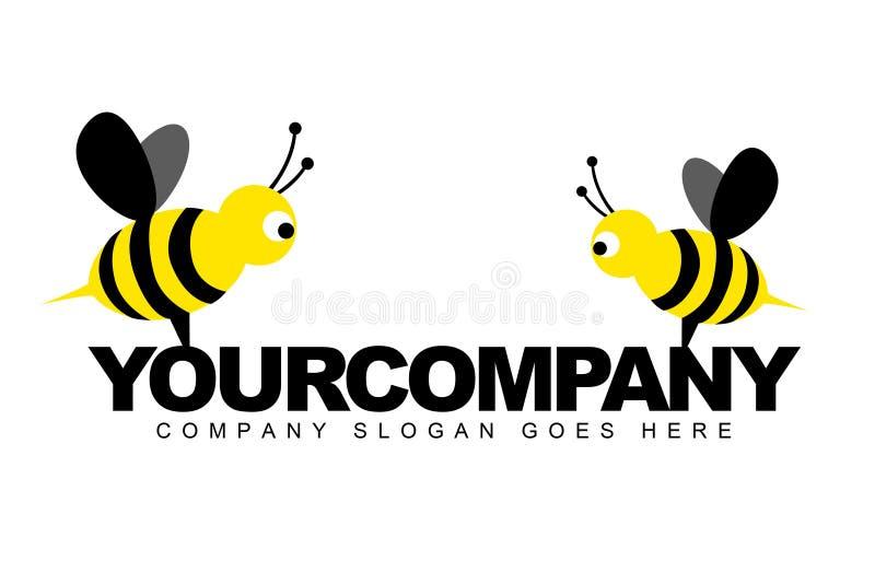 Bijen die Embleem helpen royalty-vrije illustratie