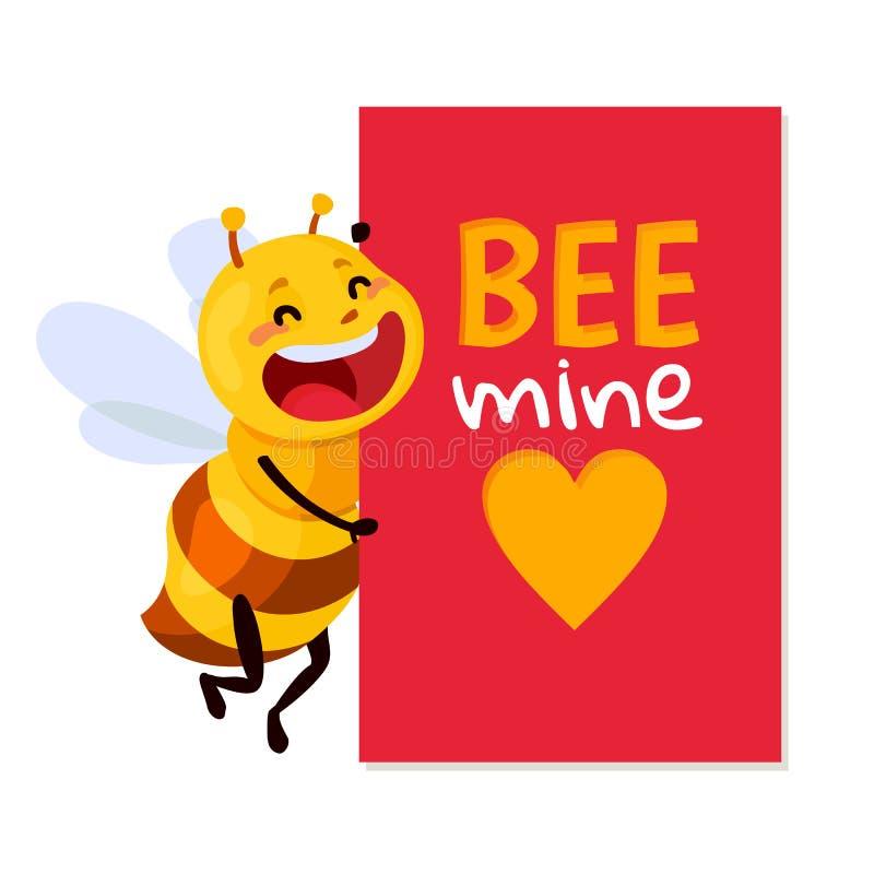 Bijen Vectorillustratie ben mijn honing vector illustratie
