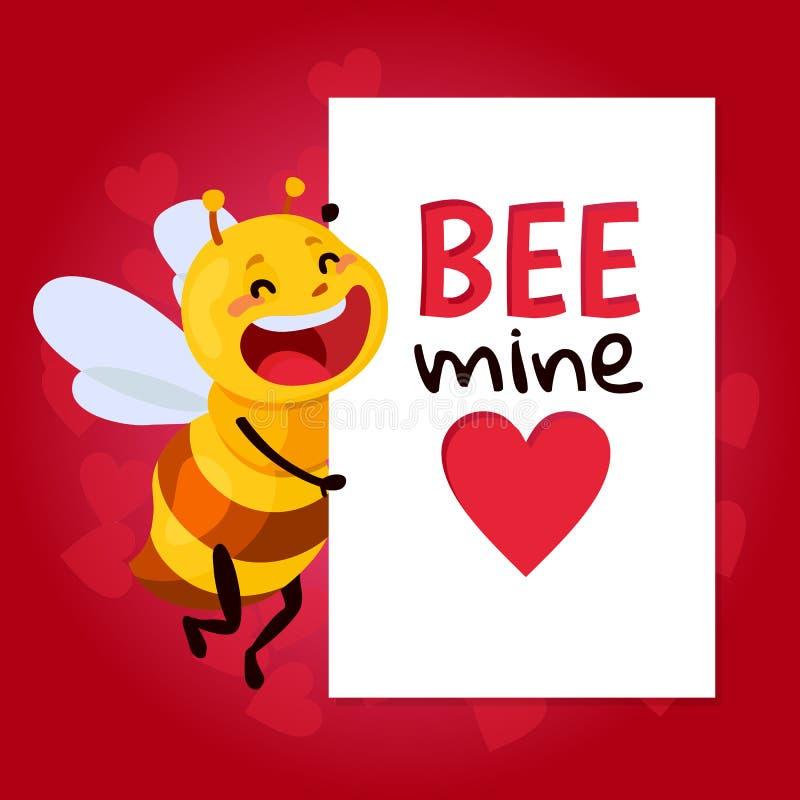 Bijen Vectorillustratie ben mijn honing royalty-vrije illustratie