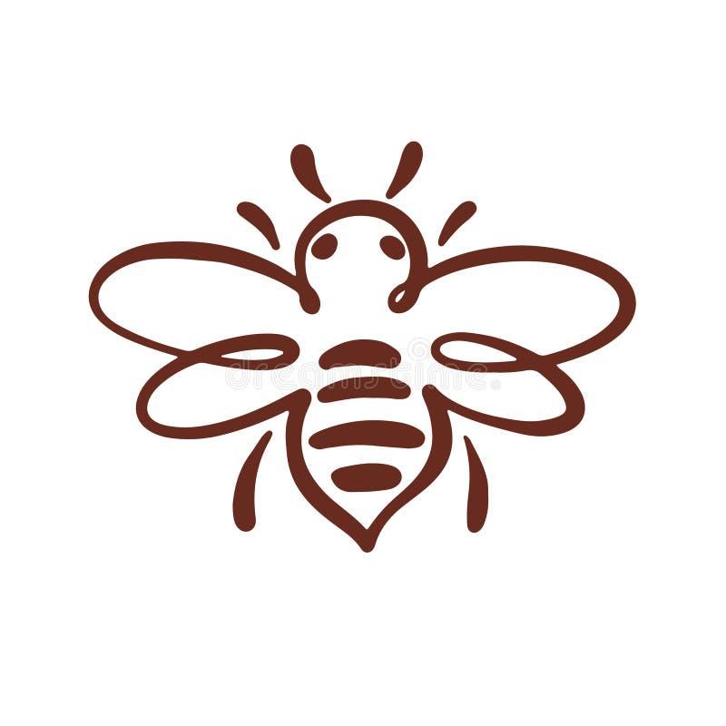 Bijenembleem, bij, honing royalty-vrije illustratie