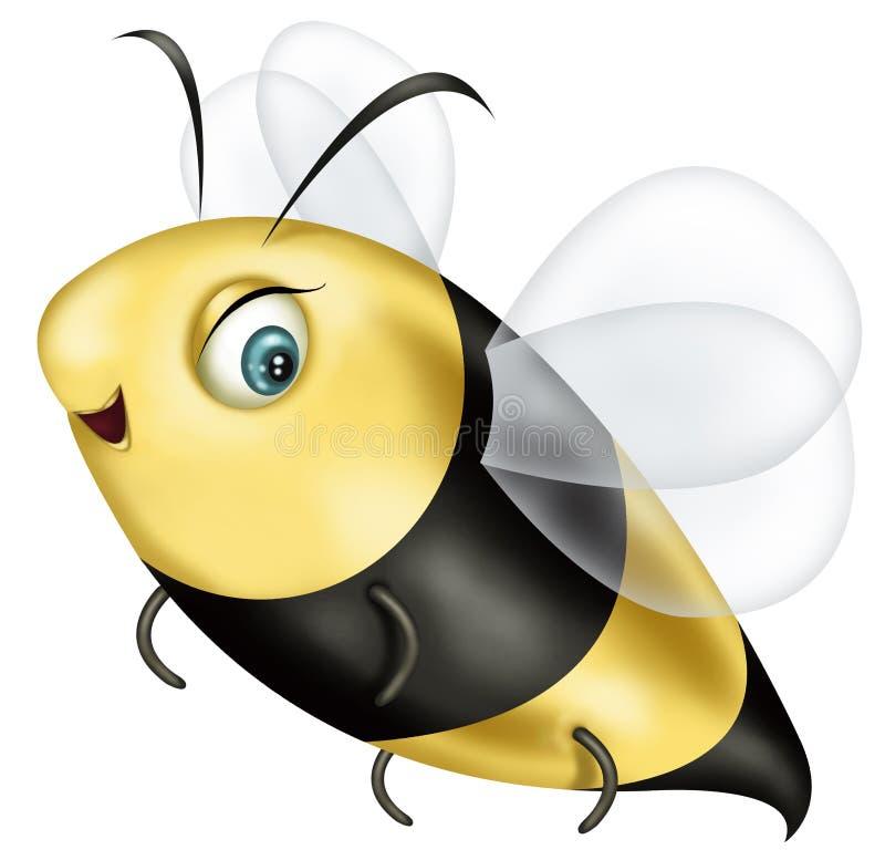 Bijenillustratie royalty-vrije stock afbeeldingen