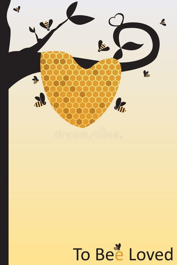 Bijenliefde stock illustratie