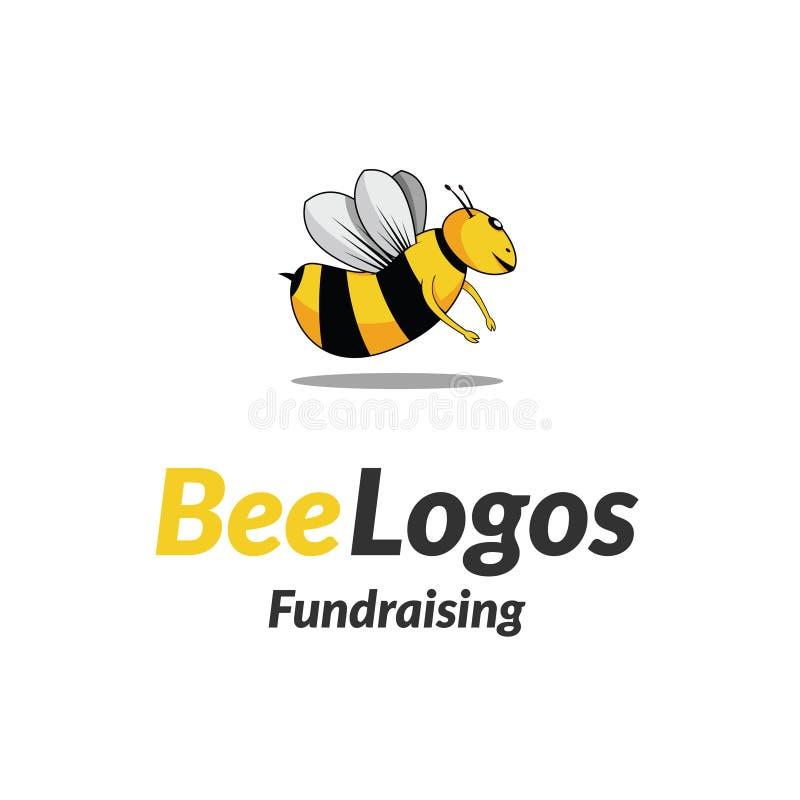 Bijenpictogram Logo Vector royalty-vrije stock fotografie