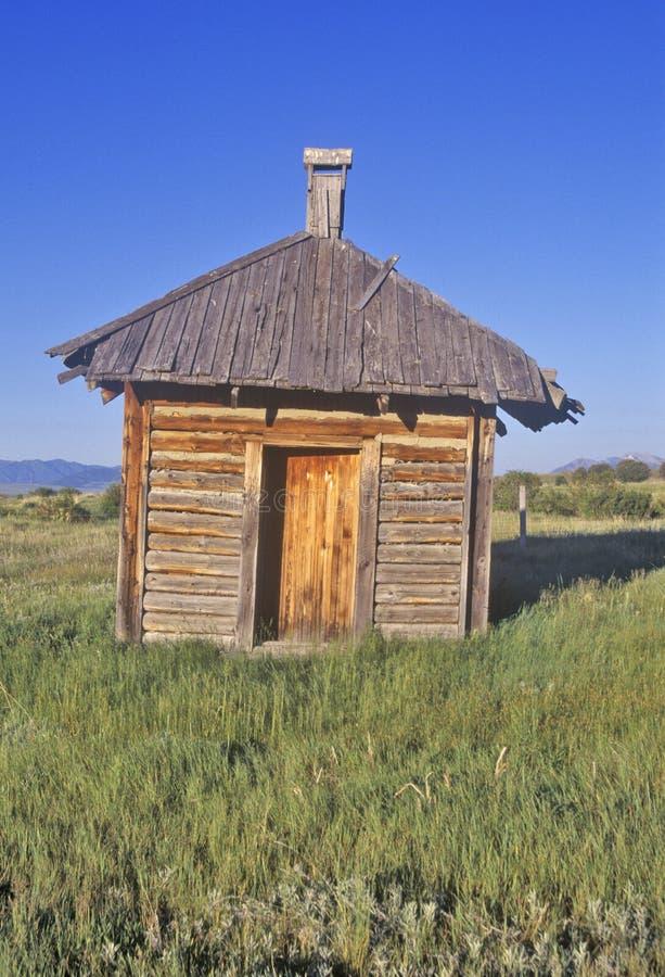 Bijgebouw op Oud Dude Ranch, Honderdjarige Vallei, MT royalty-vrije stock foto's