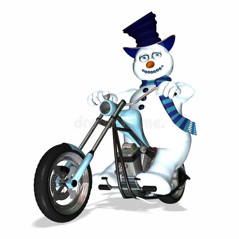 Bijl 1 van de sneeuwman royalty-vrije illustratie