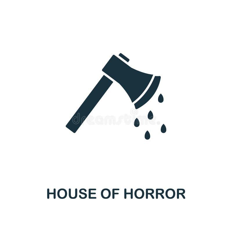 Bijl met Bloedpictogram Het ontwerp van de premiestijl van Halloween-pictograminzameling UI en UX Pixel perfecte bijl met bloedpi vector illustratie