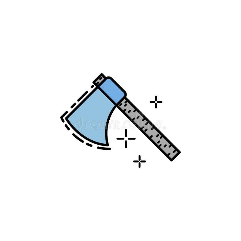 bijl, steenleeftijd, houthakkersbijl, wapen, hamerpictogram Element van het pictogram van de geschiedeniskleur voor mobiele conce vector illustratie