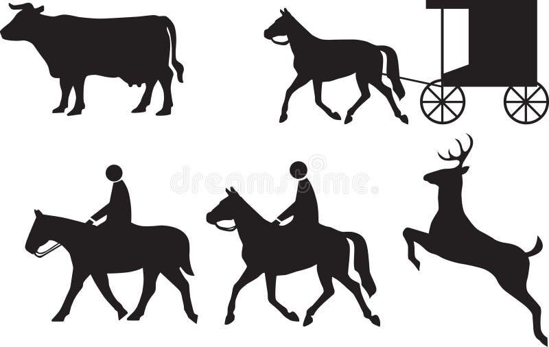 Bijlage aan verkeerstekendieren stock illustratie