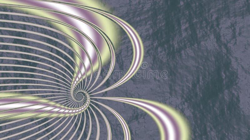 Bijna daar fractal stijl stock illustratie