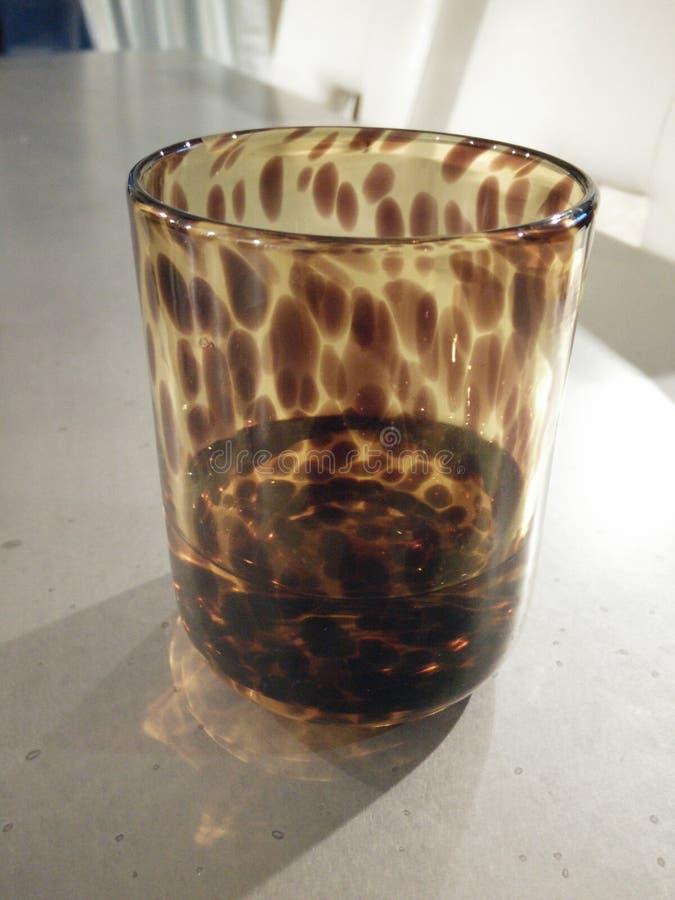 Bijna Leeg glas stock afbeelding