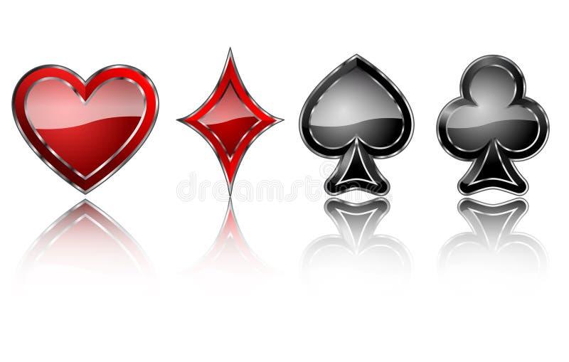 Bijou de symboles de carte illustration stock