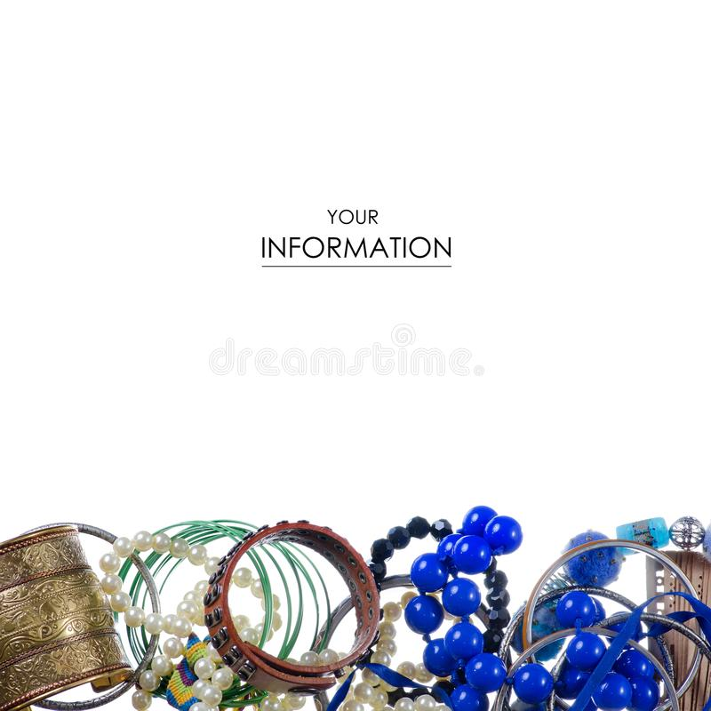 The bijouterie jewerly fashion accessory royalty free stock image
